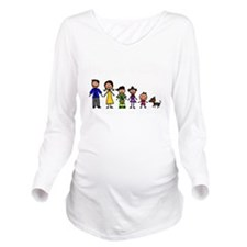 ass family Long Sleeve Maternity T-Shirt
