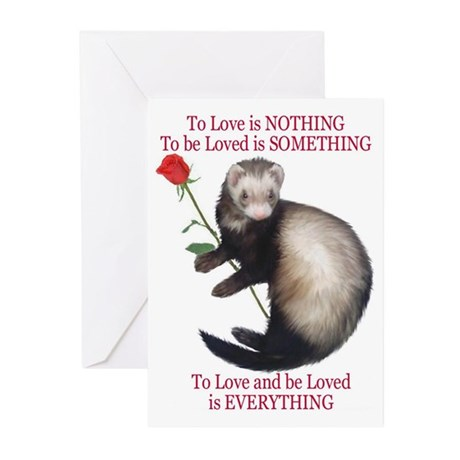 To Love is NOTHING Greeting Cards (Pk of 10)