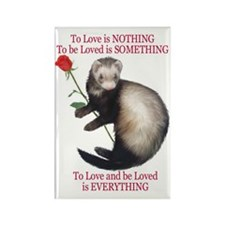 To Love is NOTHING Rectangle Magnet (100 pack)