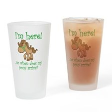 PonyArrive_Green Drinking Glass