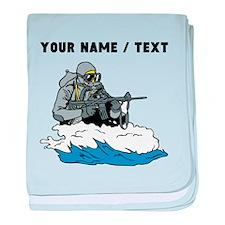 Custom Navy Seal baby blanket