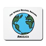 Revolves around Angelica Mousepad