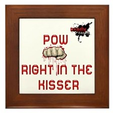 POW in the kisser Framed Tile