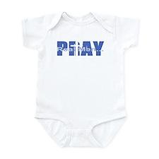 Real Men Pray - Azure Infant Bodysuit