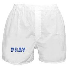 Real Men Pray - Azure Boxer Shorts