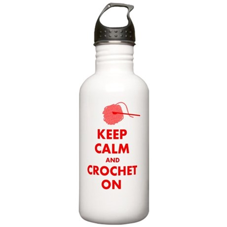 keep calm crochet on Stainless Water Bottle 1.0L