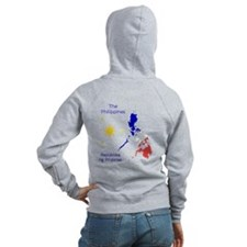 Philippines Map Graphic Zip Hoodie