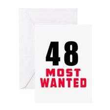 48 most wanted Greeting Card