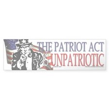 The Patriot Act Sucks Bumper Car Sticker