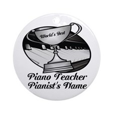 Personalized Piano Teacher Ornament (Round)