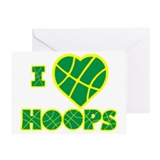 neon yellow green Love Hoops Greeting Card