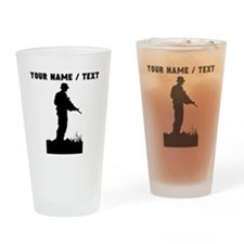 Custom Soldier Silhouette Drinking Glass