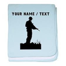 Custom Soldier Silhouette baby blanket