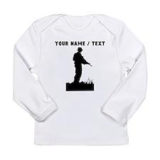 Custom Soldier Silhouette Long Sleeve T-Shirt