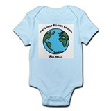 Revolves around Michelle Infant Bodysuit