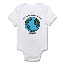 Revolves around Natalee Infant Bodysuit
