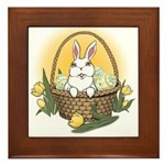 Happy Easter Bunny Gifts Framed Tile