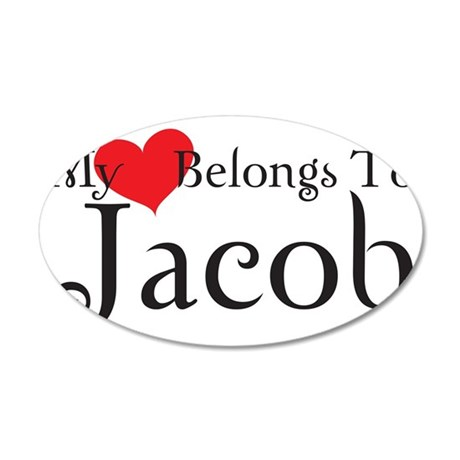heartjacob 35x21 Oval Wall Decal