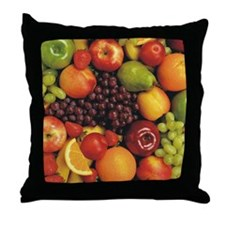 Mixed Fruit Flip Flops Throw Pillow