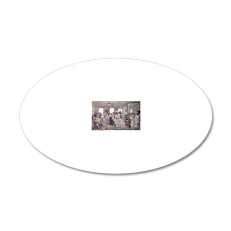 1 JAN GERVEX Paquin 20x12 Oval Wall Decal