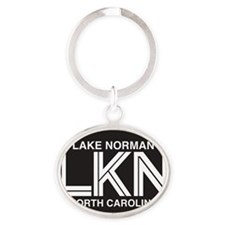 Lake Norman Oval Sticker Oval Keychain