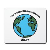 Revolves around Macy Mousepad