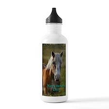 Birthday Dad Horse Water Bottle