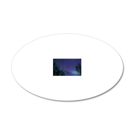 200311eclipse_lunar_over NoC 20x12 Oval Wall Decal