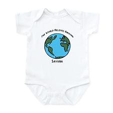 Revolves around Savana Infant Bodysuit