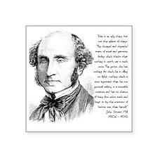 """John Stuart Mill Square Sticker 3"""" x 3"""""""