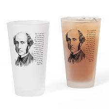 John Stuart Mill Drinking Glass