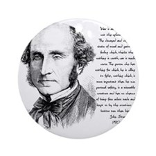 John Stuart Mill Round Ornament