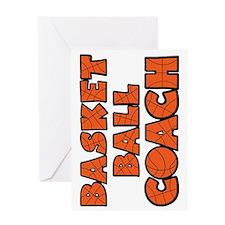 sideways orange black, Basketball Co Greeting Card