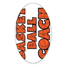 sideways orange black, Basketball C Decal