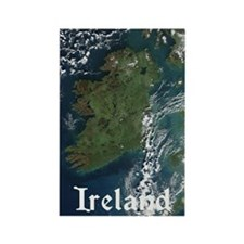 Ireland Via Satelite Magnet