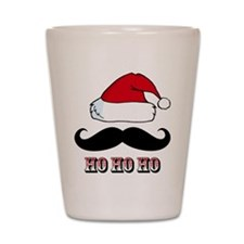 Mustache Santa Red Shot Glass
