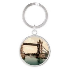 Tower Bridge Round Keychain