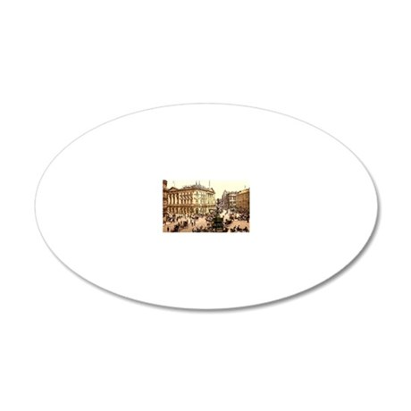 Picadilly circus 20x12 Oval Wall Decal
