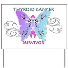 thycatsurvivorshirtonwhite Yard Sign