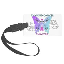 thycatsurvivorshirtonwhite Luggage Tag