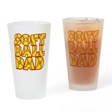 yellow, Softball Dad Drinking Glass