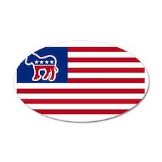 democrat USA election 35x21 Oval Wall Decal