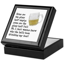Half Glass Of Beer Keepsake Box