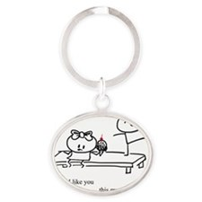 This_Much Oval Keychain