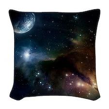 Space Woven Throw Pillow