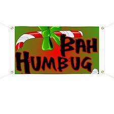 Bah Humbug Broken Candy Cane Banner