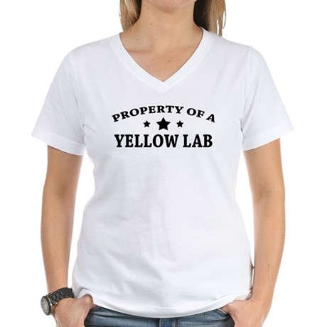 Property of a Yellow Lab Women's V-Neck T-Shirt