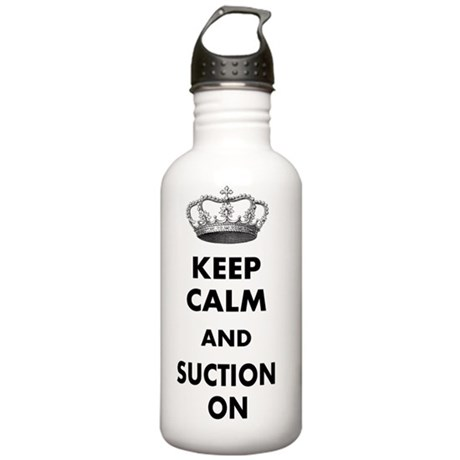 KEEP CALM AND SUCTION Stainless Water Bottle 1.0L