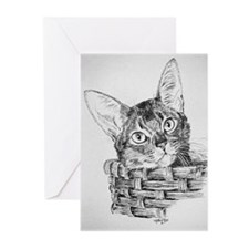 Abyssinian Pen and Ink Greeting Cards (Package of