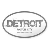 Detroit Motor City Oval Decal